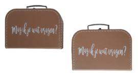 Kinderkoffer met lange tekst - Kies je Eigen tekst!