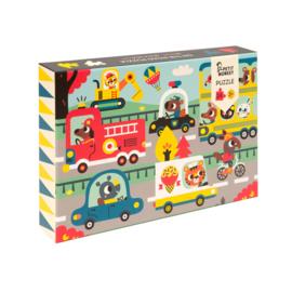 Petit Monkey - puzzel- on the road - 3 jr+ / 24 stks