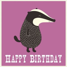 Rex - Verjaardagskaart - Happy Birthday - Badger