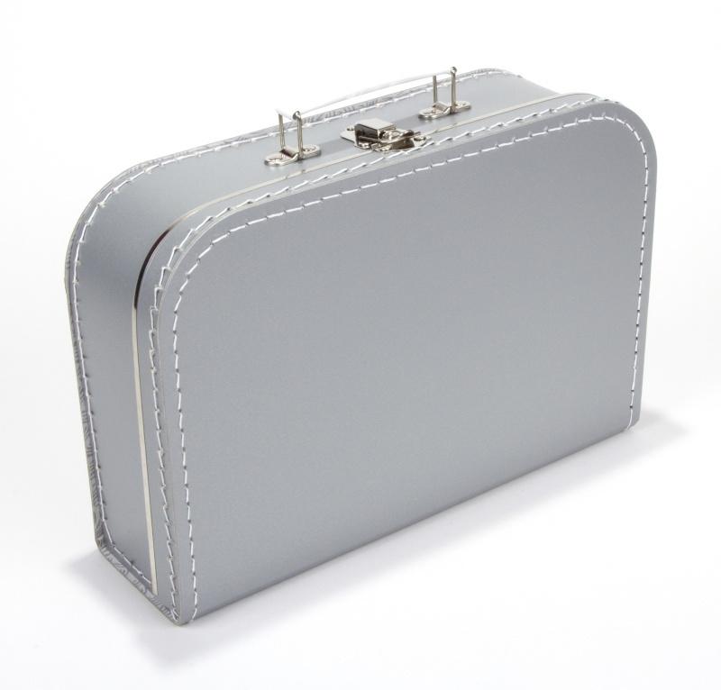 Kinderkoffertje  Large zilver 30cm x 21cmx 9 cm