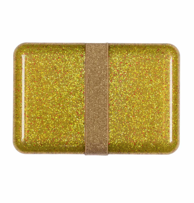 A Litte Lovely Company - Lunchbox - Glitter gold