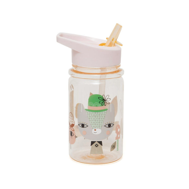 Petit Monkey - Drinkfles Lama & Friends - Peach