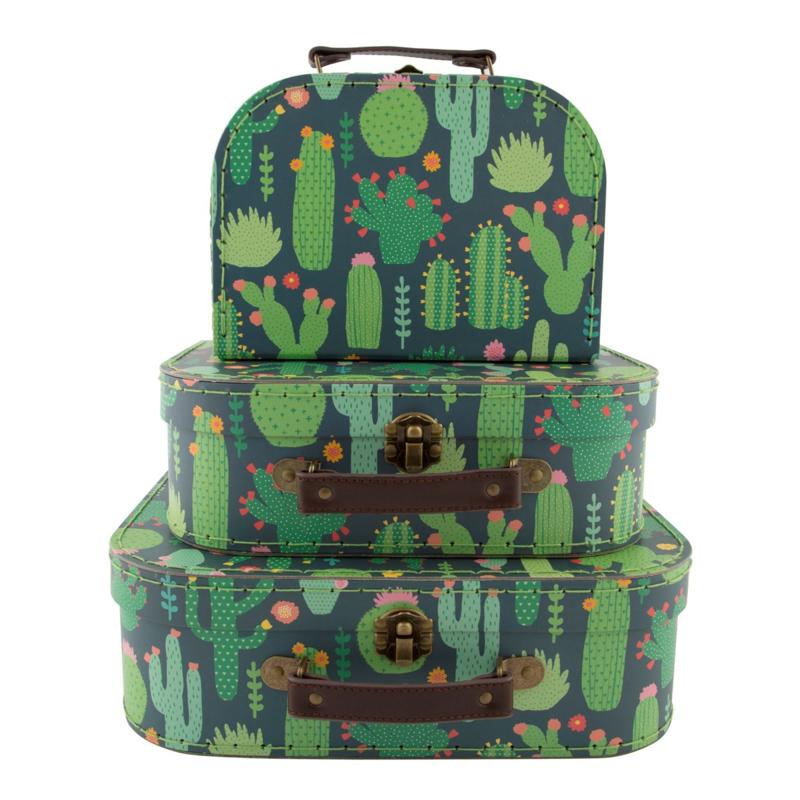 Sass & Belle - Kinder kofferset - Colourful Cactus