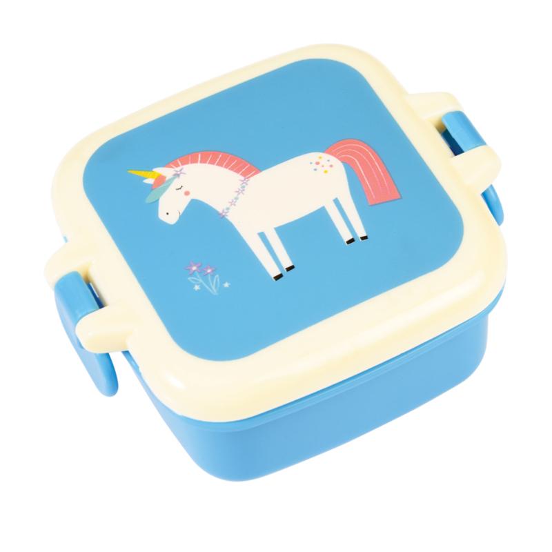 Rex - Mini Snackbox met sluitclip - Magical Unicorn