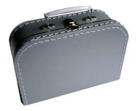 Kinderkoffertje zilver Medium 25 cm  x 18 cm  x 9 cm
