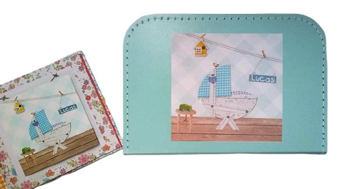 Kinderkoffertje met Geboortekaart