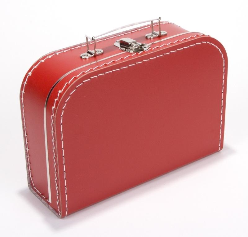 Kinderkoffertje rood  Medium 25 cm  x 18 cm  x 9 cm