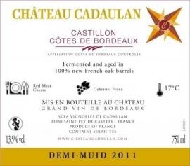 2011 Chateau Cadaulan CCC Le Demi-Muid
