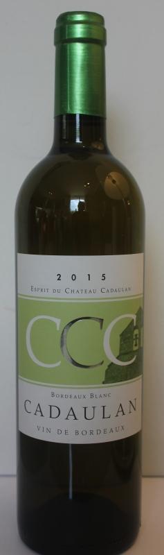 2016 Esprit du Chateau Cadaulan Bordeaux Blanc