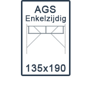 AGS-XS Enkelzijdige 135x190