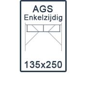 AGS-XS Enkelzijdige 135x250