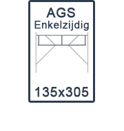 AGS-XS Enkelzijdige 135x305