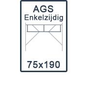 AGS-XS Enkelzijdige 75x190