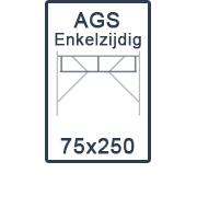 AGS-XS Enkelzijdige 75x250