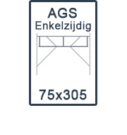 AGS-XS Enkelzijdige 75x305