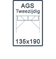 AGS-XS tweezijdig 135x190