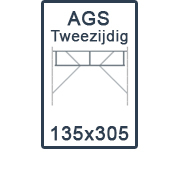 AGS-XS tweezijdig 135x305