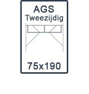 AGS-XS tweezijdig 75x190
