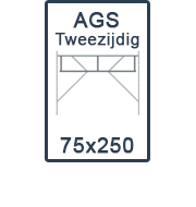 AGS-XS tweezijdig 75x250