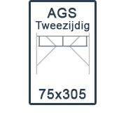 AGS-XS tweezijdig 75x305