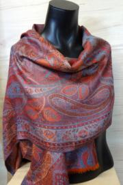 zijden sjaal paisley oranje