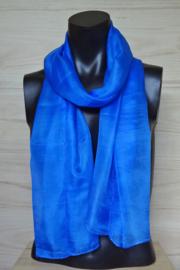 zijden sjaal korenblauw