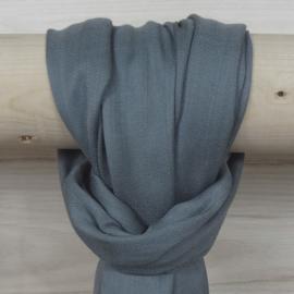 Sjaal in grijs blauw, 50% wol