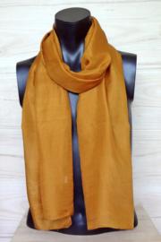 zijden sjaal donker oranje