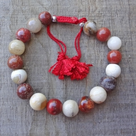 Armband van verschillende kleuren agaat en jaspis