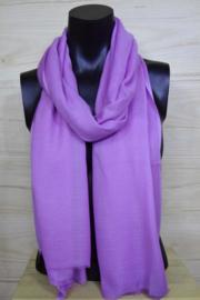 Sjaal in paars, 50% wol