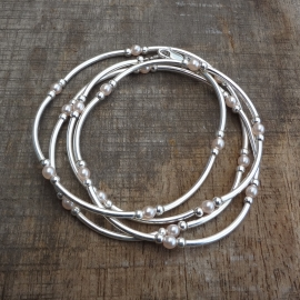 Wikkelarmband van sterling zilver