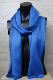 Sjaal in blauw, 50% wol