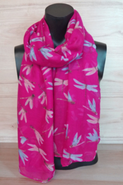 Sjaal libelle pink
