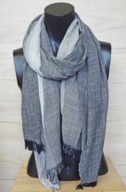 katoenen sjaal zwart-wit