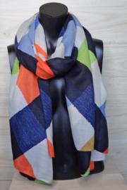 sjaal met blokken