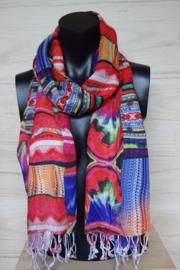sjaal met patchwork print