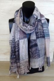 Sjaal met blokprint