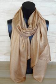 sjaal camelkleurig