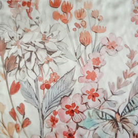 sjaaltje, bandana, bloemen pastel