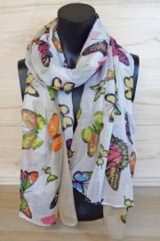 Sjaal vlinders multicolor