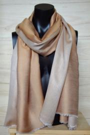 zijden sjaal reversible camel