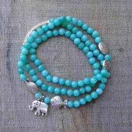 Armband met mintgroene stenen kraaltjes