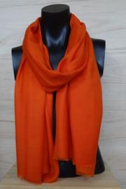 Sjaal in oranje, 50% wol