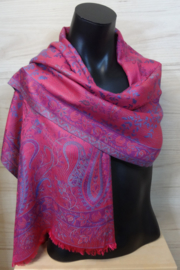zijden sjaal roze paisley