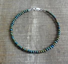 Armband van Tsjechische glaskralen blauw