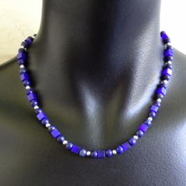 ketting lapis lazuli, cat's eye