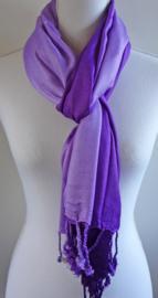 Sjaal in kleurverloop paars