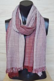katoenen sjaal rood-wit