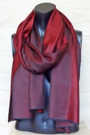 zijden sjaal reversible rood/zwart