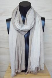 katoenen sjaal streepjes bruin-wit
